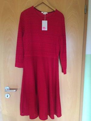 Boden Robe en maille tricotées rouge framboise