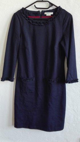 Boden Kleid Rüschen dunkelblau Gr. UK10 S 36 blau wie NEU!