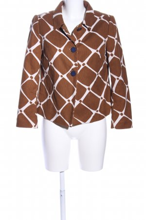 Boden Short Blazer brown-white allover print casual look