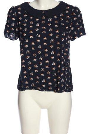 Boden Bluzka z krótkim rękawem czarny-jasny pomarańczowy W stylu casual