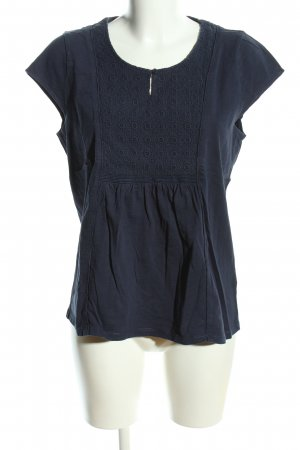 Boden Short Sleeved Blouse blue flecked casual look