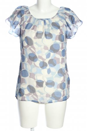 Boden Kurzarm-Bluse Punktemuster Casual-Look