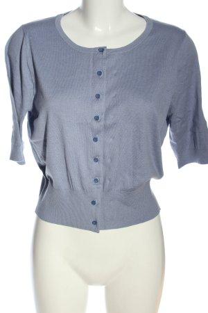 Boden Kurzarm-Bluse blau Casual-Look