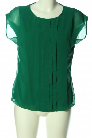 Boden Kurzarm-Bluse grün Business-Look