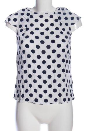 Boden Short Sleeved Blouse white-black spot pattern casual look