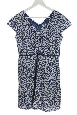 Boden Sukienka z krótkim rękawem biały-niebieski Na całej powierzchni