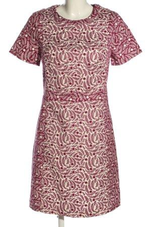Boden Sukienka z krótkim rękawem różowy-biały Abstrakcyjny wzór