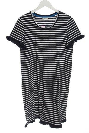 Boden Sukienka z krótkim rękawem czarny-biały Wzór w paski W stylu casual
