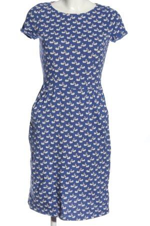 Boden Sukienka z krótkim rękawem niebieski-biały Na całej powierzchni