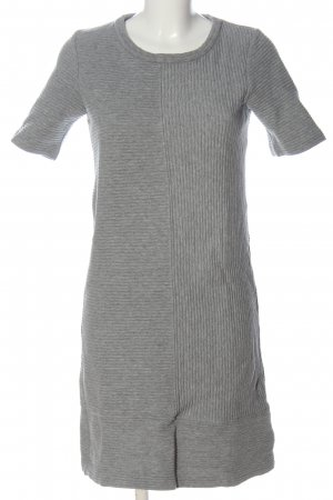 Boden Robe à manches courtes gris clair moucheté style décontracté