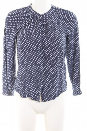 Boden Long Sleeve Blouse blue-white allover print casual look