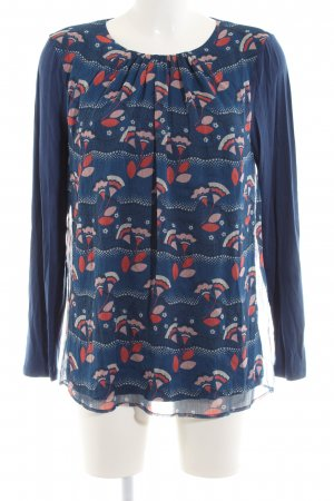Boden Langarm-Bluse blau Casual-Look