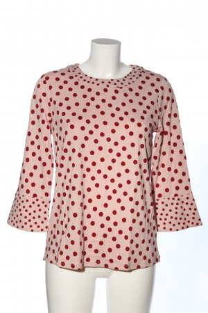 Boden Long Sleeve Blouse pink-red spot pattern casual look