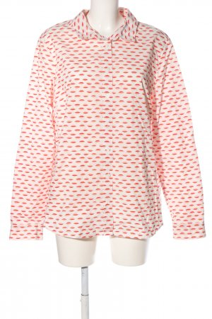 Boden Langarm-Bluse weiß-rot Allover-Druck Casual-Look