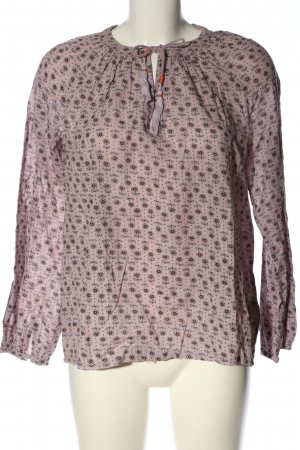 Boden Langarm-Bluse Allover-Druck Casual-Look