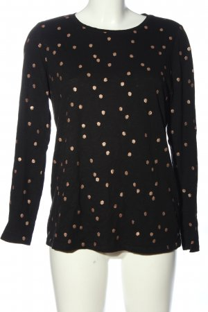Boden Long Sleeve Blouse black-gold-colored allover print casual look