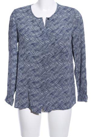 Boden Langarm-Bluse dunkelblau-weiß Allover-Druck Casual-Look