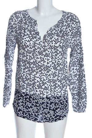 Boden Langarm-Bluse schwarz-weiß Allover-Druck Casual-Look