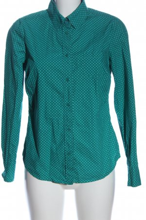 Boden Koszula z długim rękawem zielony Wzór w kropki Elegancki