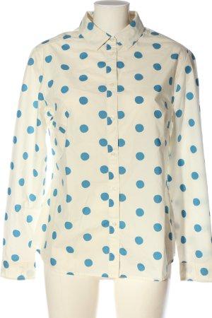 Boden Langarmhemd wollweiß-blau Allover-Druck Casual-Look