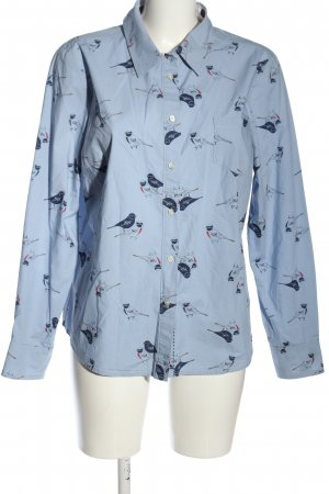 Boden Langarmhemd blau Allover-Druck Casual-Look