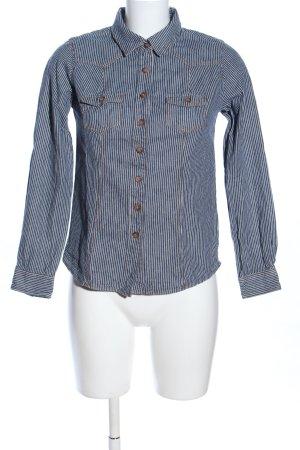 Boden Langarmhemd weiß-blau Casual-Look