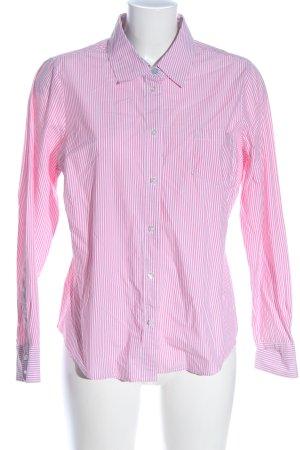 Boden Chemise à manches longues rose-blanc motif rayé style d'affaires