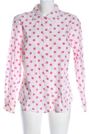 Boden Chemise à manches longues blanc-rose imprimé allover style décontracté