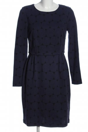 Boden Sukienka z długim rękawem niebieski-czarny Na całej powierzchni