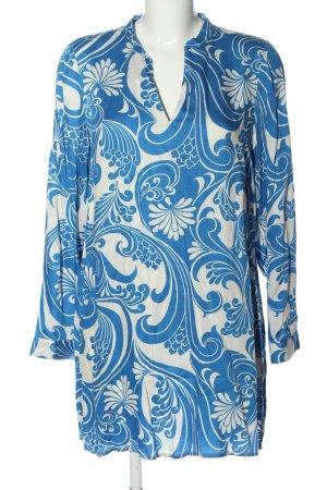 Boden Abito a maniche lunghe blu-bianco motivo astratto elegante