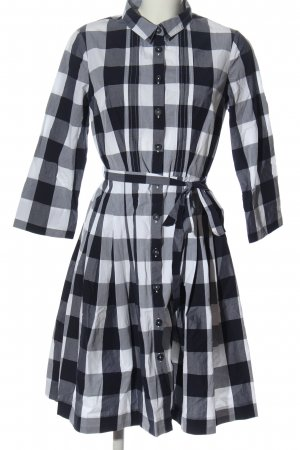 Boden Longsleeve Dress black-white check pattern business style