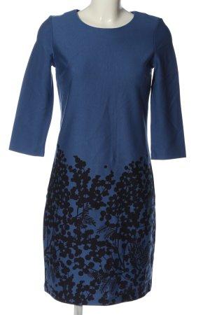 Boden Longsleeve Dress blue-black flower pattern casual look