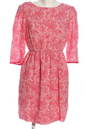 Boden Sukienka z długim rękawem w kolorze białej wełny-czerwony