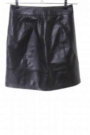 Boden Leather Skirt black elegant