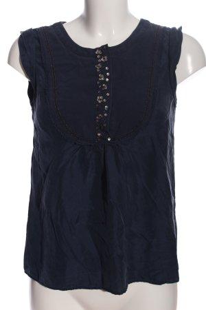 boden limited edition ärmellose Bluse blau Business-Look