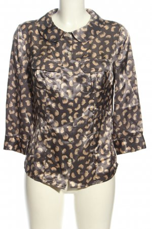 boden limited edition Blouse met lange mouwen lichtgrijs-room abstract patroon