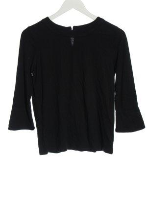 Boden Koszulka z długim rękawem czarny W stylu casual