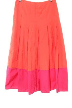 Boden Falda larga naranja claro-rosa estilo «business»