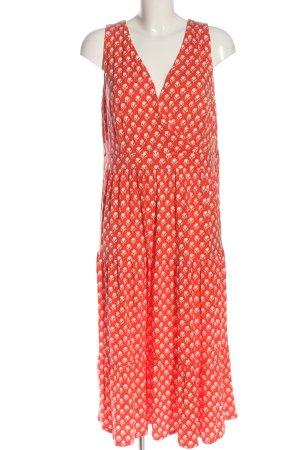Boden Midi Dress light orange-white allover print casual look