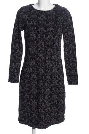 Boden Midi Dress black-light grey allover print elegant