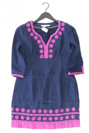 Boden Robe mi-longue bleu-bleu fluo-bleu foncé-bleu azur lin
