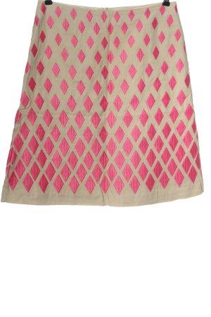 Boden Midirock nude-pink abstraktes Muster Elegant