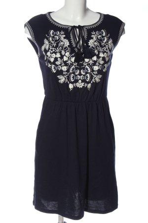 Boden Sukienka mini czarny-biały Graficzny wzór W stylu casual