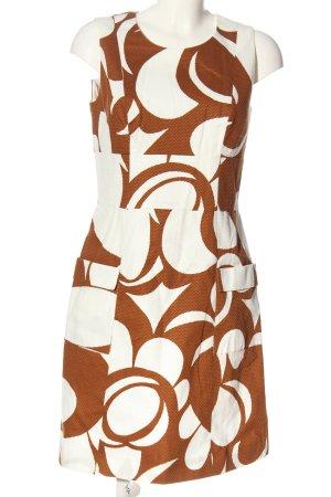 Boden Minikleid weiß-braun abstraktes Muster Casual-Look
