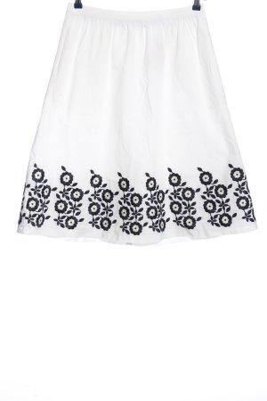 Boden Spódnica mini biały-niebieski W stylu casual