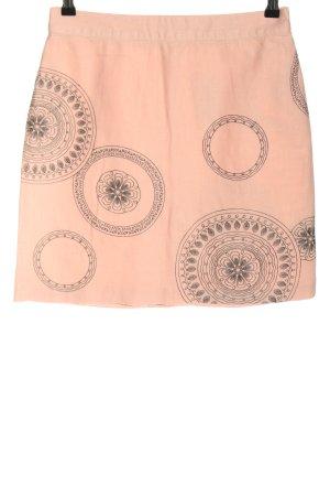 Boden Minirock pink-schwarz abstraktes Muster Casual-Look