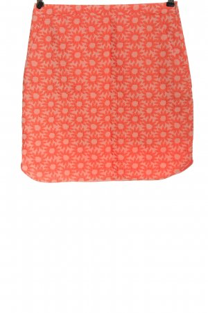 Boden Mini rok licht Oranje volledige print casual uitstraling