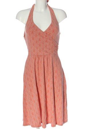 Boden Halter Dress light orange-white allover print casual look