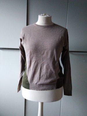 Boden Pullover Baumwolle beige grün UK14 / 40