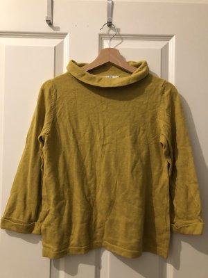 Boden Cienki sweter z dzianiny złotopomarańczowy